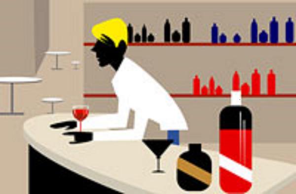 深夜酒類提供飲食店営業イラスト