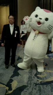 大阪の行政書士「2014年5月ユキマサ君+会長」画像